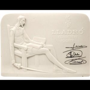 Lladro Collectors Society 1985 porcelain plaque